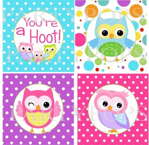 Items similar to DIY Digital Owl Happy Birthday Printable ...