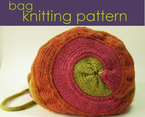 Spiral Bag Knitting Pattern, Knitted Bag, Knitting Pattern PDF