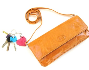 CHIC LEATHER TREAT - Women's Leather Clutch - Leather Crossbody Bag - Leather Envelope - in Pure Honey