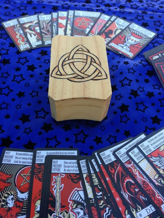 Celtic Triquetra Tarot Box Complete With Deck By Vkadera