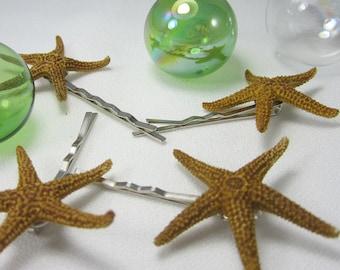 4pc Beach Wedding Starfish Hair Pins - Starfish Bobby Pins for Brides or Prom, 4pc