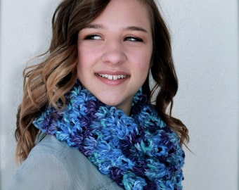 infinity scarf memphis blues serenity cowl