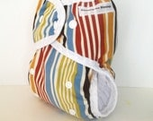 Cloth Diaper,  size cloth diaper or cover for baby, stripes, AI2