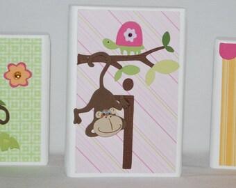 Miss Monkey Baby Name Block Letters . Julia