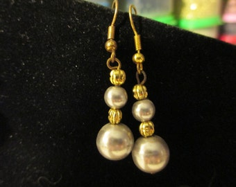 Earrings - Golden Beige