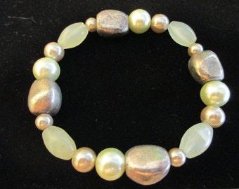Bracelet - Light Green and Silver