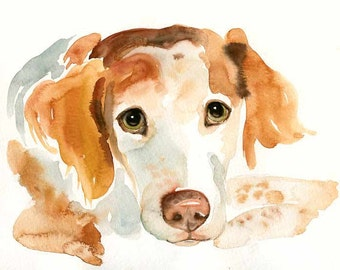 Custom pet portrait Pet portrait memorial custom dog portrait Custom pet painting Custom dog portrait Original watercolor painting 8X10inch