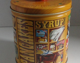 1983 Quaker Limited Edition Tin Can with Measuring  cup.