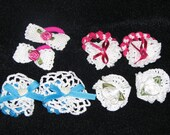 Set of 4 Ponytail pairs from heart of Ohio are handmade crochet lace