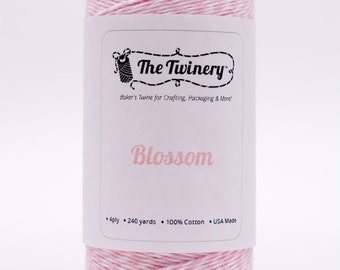 Full Spool - 240 Yards - Blossom Pink Baker's Twine