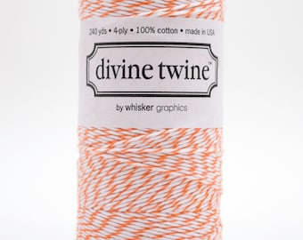 Full Spool - 240 Yards - Orange - Mango - Baker's Twine