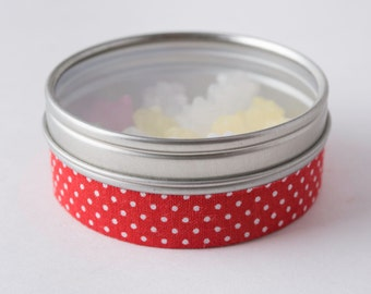 Fabric Deco Tape Red with Small White Polka Dots - Scrapbook Embellish Decorate - Colorful and Fun - Single Roll No. F81