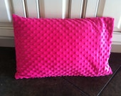 Soft Minky Dot Travel/Toddler Pillowcase - Hot Pink