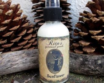 Rita's Sunflower Spiritual Mist Spray  - Combat Depression, Abundance, Happiness, Protection, Sun Energy - Pagan, Hoodoo, Witchcraft
