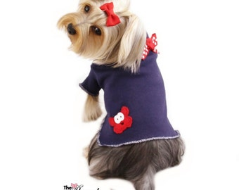 Happy Crab Dog Shirt Clothes Size XXXS through Medium by Doogie Couture