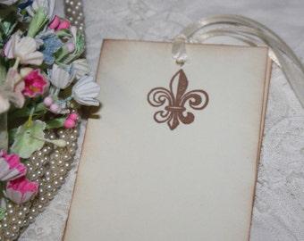 Wish Tree Wedding Tags - Fleur de Lis - Wishes - Ivory - Set of 25