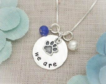 Sterling Silver Disc Penn State We Are Thon Hand Stamped Jewelry