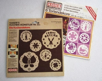 Vintage Cake Stencil Set Kaiser Bakeware made in West Germany