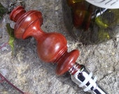Check Mate - Redheart Wood Wooden Wine Bottle Stopper - Great Gift Idea for the Holidays, Wedding, or Housewarming