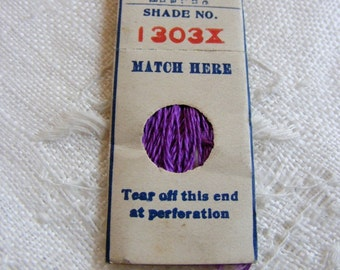 Antique 1920's Silk Embroidery Floss Belding Bros. Pure Filo Silk Gorgeous Violet