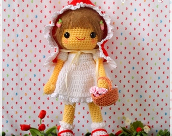 PDF Crochet Pattern - Little Red Riding Hood
