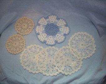 SALE-Thread Crochet Mini Doilies/Coasters