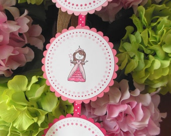 Princess door sign, Princess party sign, Princess banner