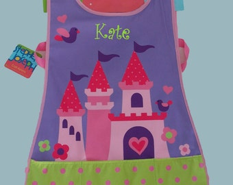 Personalized Stephen Joseph Craft Apron PRINCESS CASTLE Themed-Art Smock-Monogramming Included