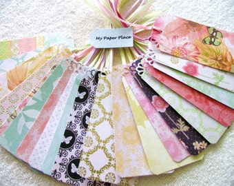 50 - WEDDING WISH TREE Tags- Escort Cards - Dcwv  Butterfly Garden  Stack  - Pastel Shades- With Priority Shipping