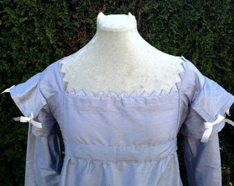 Handsewn pure silk regency gown, first payment of 3
