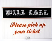 Will Call Sign - Baseball, Football or Sports Wedding Theme - Escort, Place, Seating Card Sign