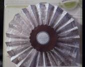 Lovely New Bravissimo Rosette Embellishment - Cream & Brown with Tulle - from Making Memories - FREE SHIPPING