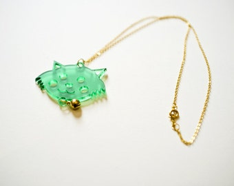 Happy Kitten Necklace - Gift for Women - Gift for Cat Lovers - Birthday Gift - Gift for Animal Lovers