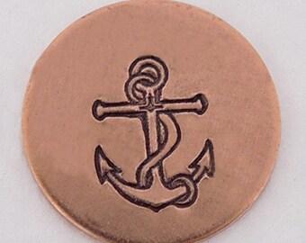 Anchor Metal Design Stamp 6mm - Handstamping Metal Jewelry Tool The Urban Beader