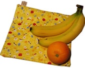 Yellow Dragonflies Large Resuable Bag