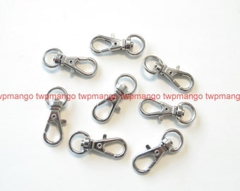 50 Silver Metal Swivel Clasps Snap Clips Finding H117-50