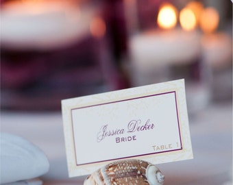 Wedding Escort and Placecards Floral Design- Paper goods for Weddings and Showers