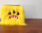 Yellow Monster Wallet- Three Black Eyes
