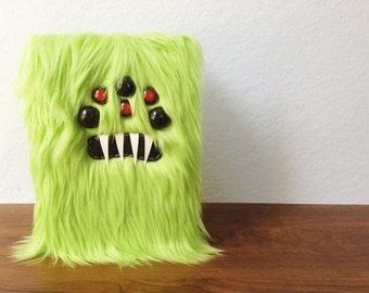 "Lime Green Monster 5.5"" X 8.5"" Sketchbook"