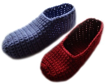 Easy Adjustable Slippers Version 2 - PDF Crochet Pattern - Instant Download