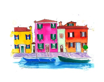 The Sweetness of Italy, print from original watercolor and pen illustration by Jessica Durrant