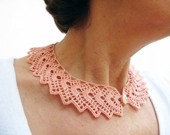 PDF Tutorial  Crochet Peter Pan Collar/ Necklace Pattern -4