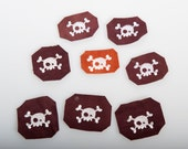 Leather skull patch to spice up your costume for larp lrp pirate ren faire
