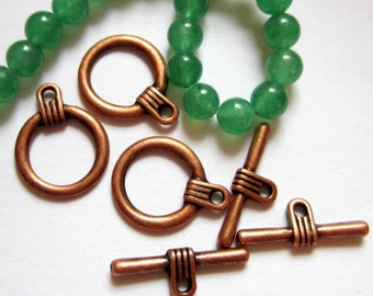 12 Classic jewelry toggles antique copper jewelry findings 16mm x 12mm  F1191-H4