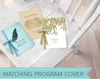 wedding PROGRAM COVER to match any idoityourself design - printable file