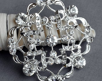 SALE Rhinestone Brooch Embellishment Crystal Pearl Wedding Brooch Bouquet Invitation Cake Decoration Hair Comb Shoe Clip BR259