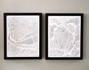 boston DIPTYCH ART PRINT