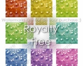 Rainbow Pearls Precious Treasure Stock Photography Royalty Free - 8 High Resolution Photos Eight Images in Two PDF Files - Instant Download