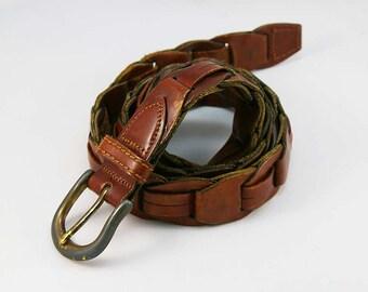 Men's Belt Vintage 1970s Leather Belt Size 34