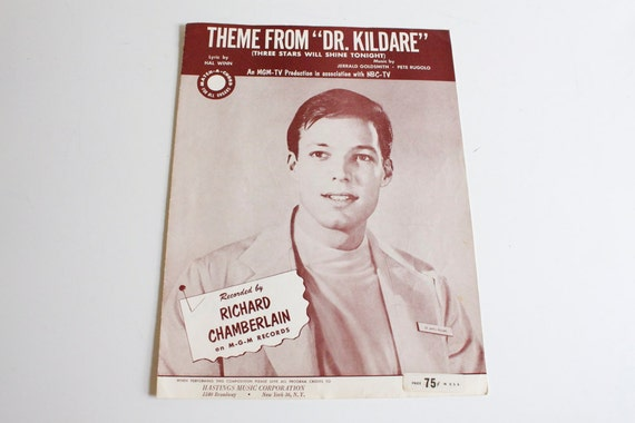 Vintage 1962 Theme from Dr Kildare Sheet Music